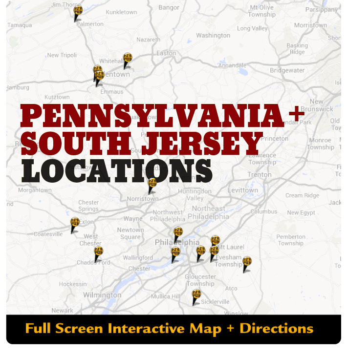 Many great locations in Pennsylvania and South Jersey