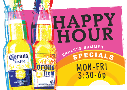 PJ's Happy Hour, Monday-Friday 3:30-6pm