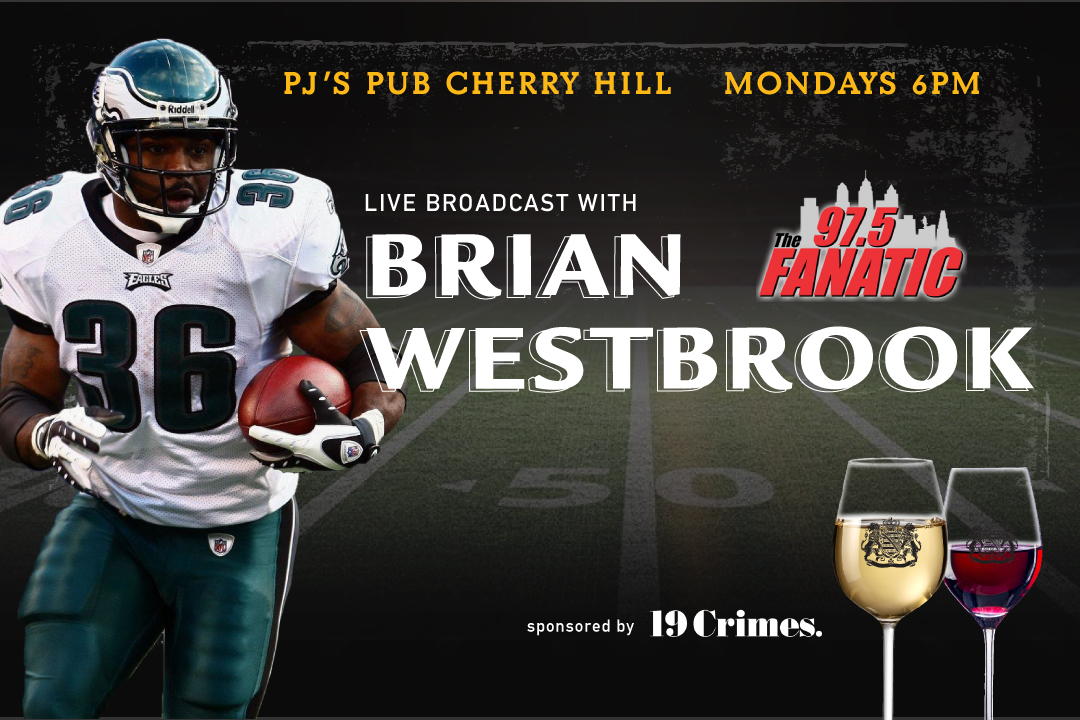 Brian Westbrook Live Broadcast Every Monday at PJ's Pub Cherry Hill