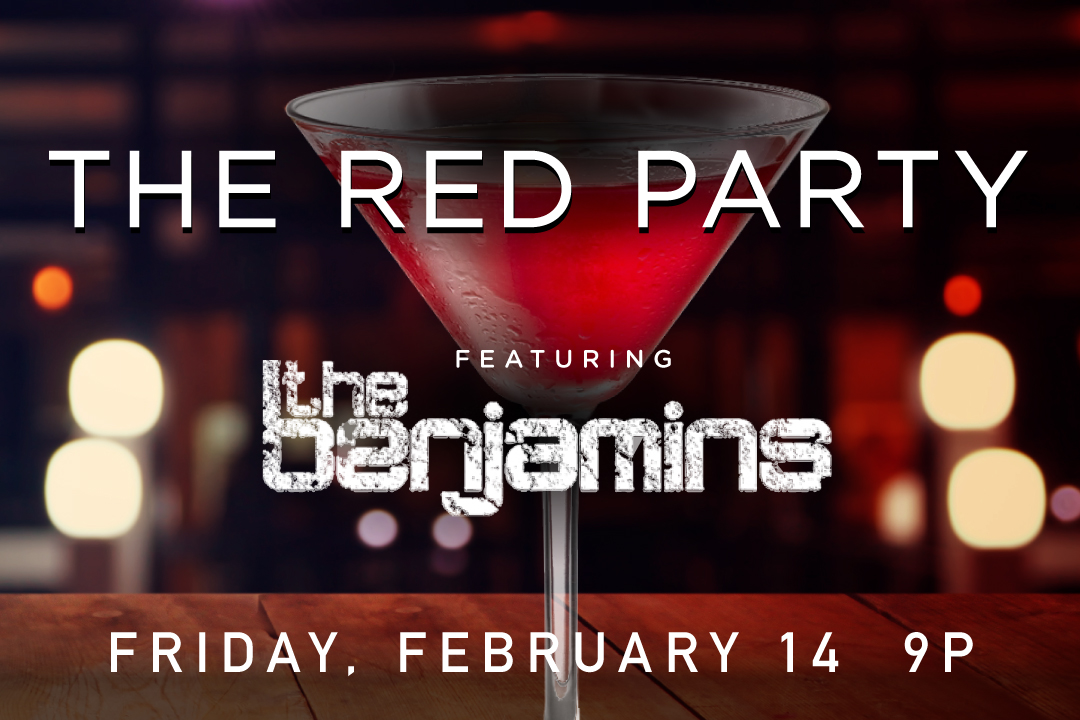 The Red Party, February 14 starting at 9pm