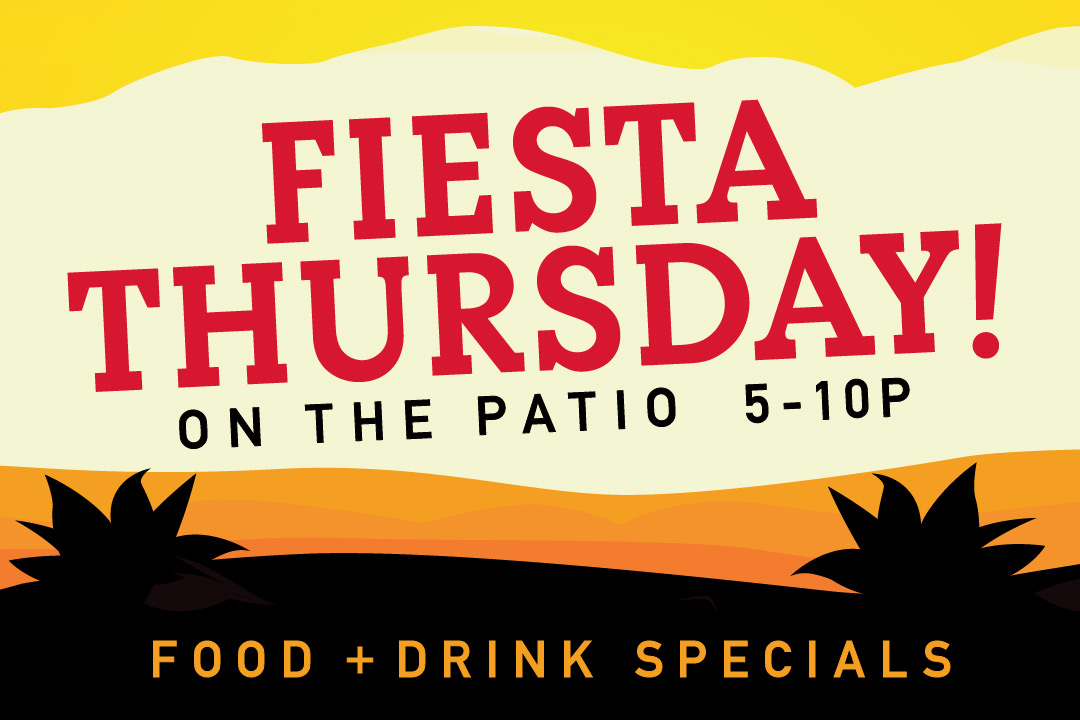 Pj's Medford Lakes Fiesta Thursday on the Patio from 5pm-10pm all summer long