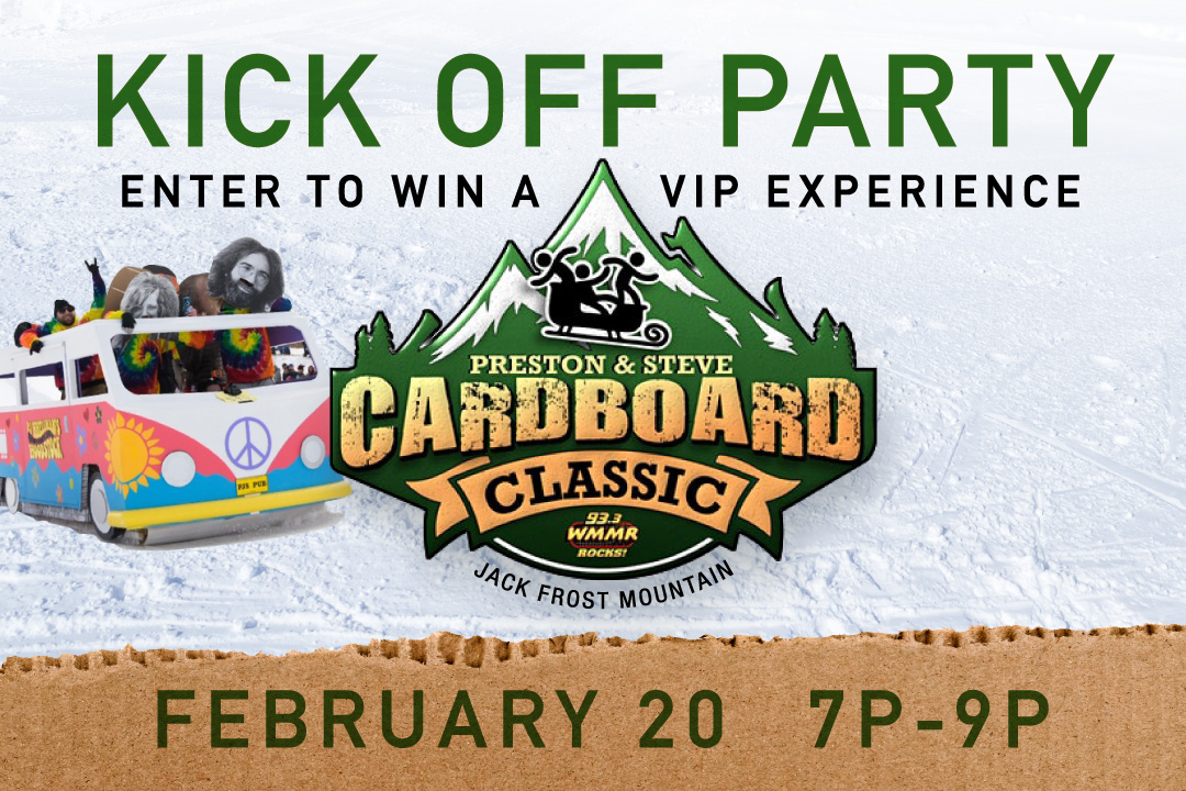 Cardboard Classic Kick Off Party, February 20 stating at 7pm