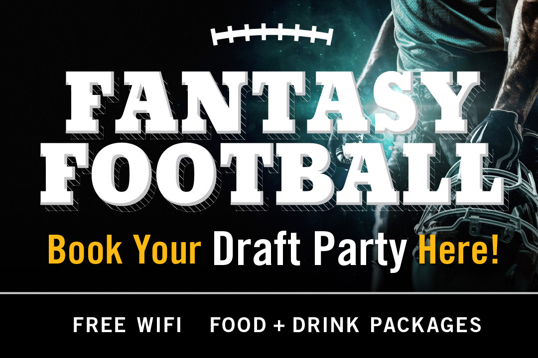 Book your fantasy football draft party at PJ's Pub