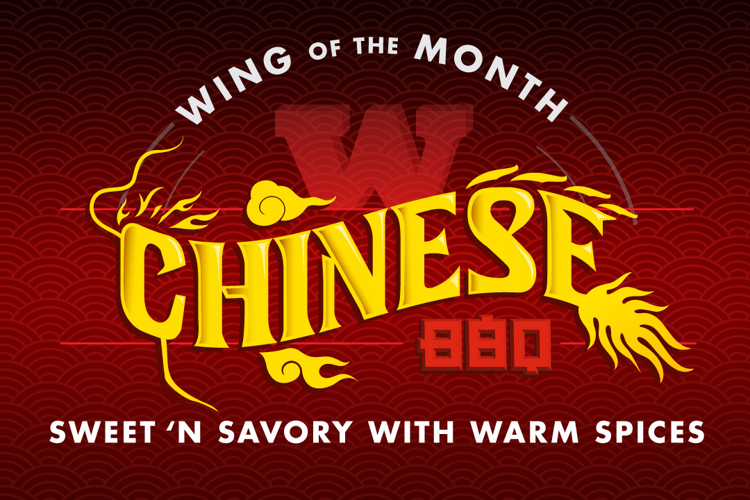 Wing of The Month : Chinese BBQ : Sweet 'n Savory with Warm Spices