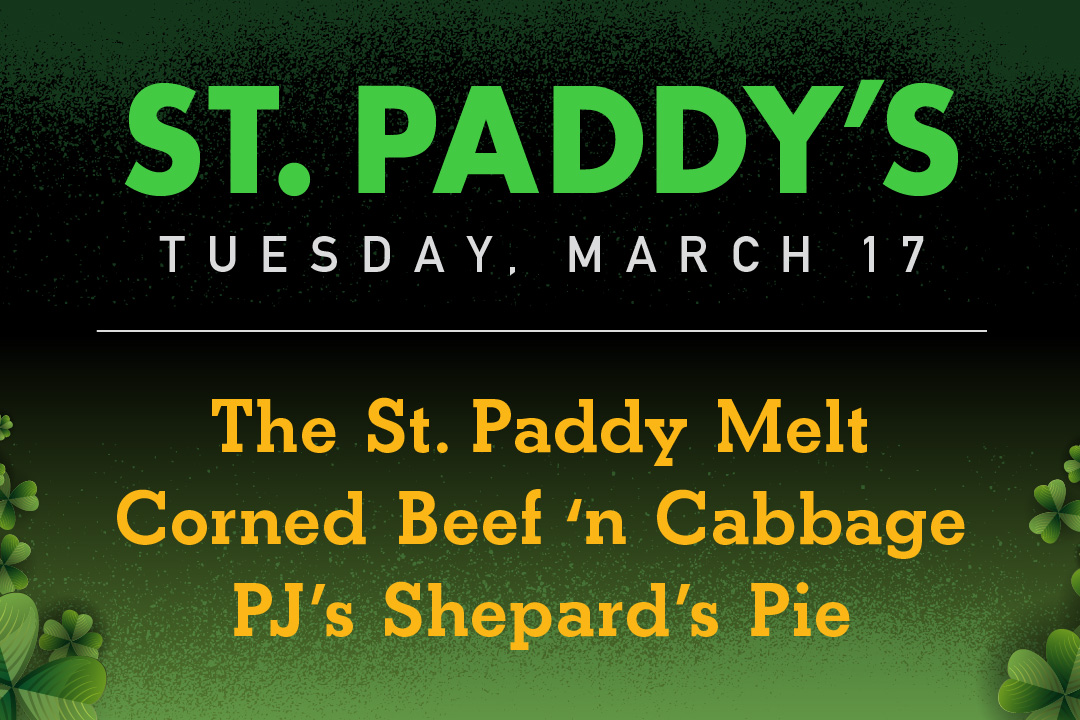 St. Paddy's Day Menu, March 17