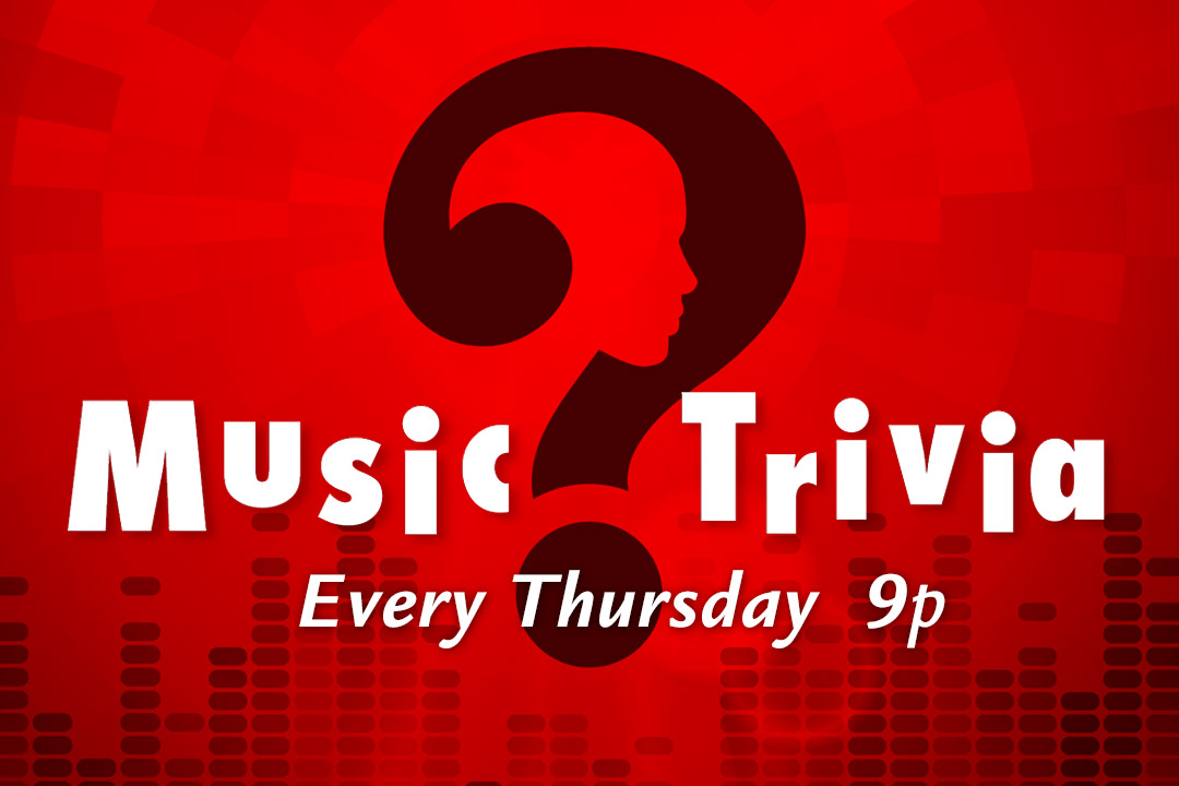 Music Trivia Thursdays 9pm at PJ's West Chester