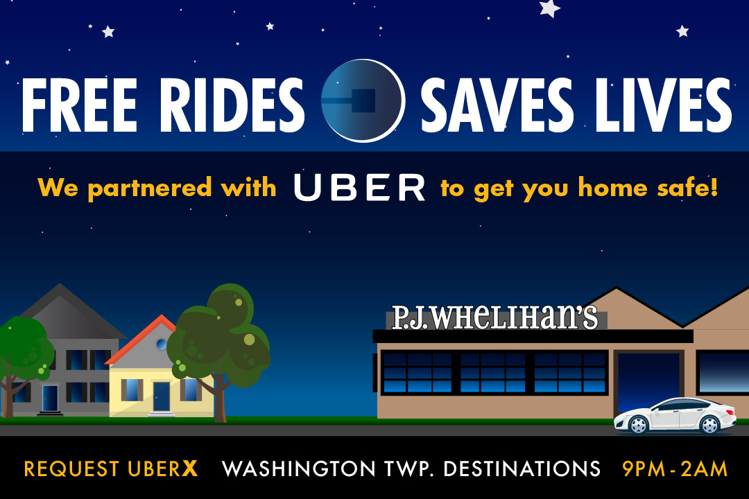 Free Rides, Saves Lives : Request Uber X for Washington Township Destinations 9pm - 2am